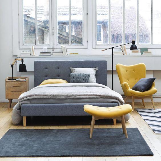 color crush: gelb meets grau - alles was du brauchst um dein haus ... - Schlafzimmer Gelb Grau