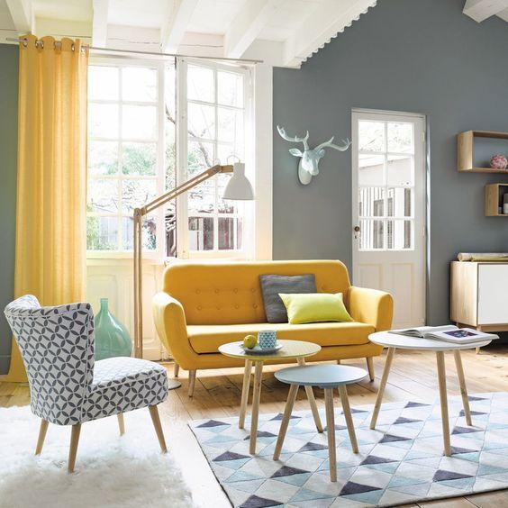 color crush: gelb meets grau - alles was du brauchst um dein haus ... - Wohnzimmer Gelb Grau